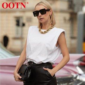 Maglietta senza maniche Estate femminile O Collo bianco camicia camicetta donna signore solido incoerente Chic casuale camicette Black Cotton Sexy Brown