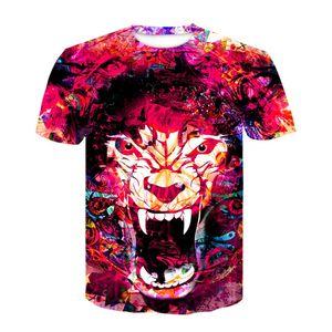 3D Tiger Printing T-Shirt Female Funny t-shirt Women Fashion Tops Tees Oil Painting T Shirt Mujer Poleras Casual XXL Ypf263