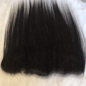 Прозрачная кружевная фронтальная 13x4 уха до уха перуанские девственные волосы прямая объемная волна кружевная фронтальная Застежка предварительно Выщипанная линия волос горячая королева Гага