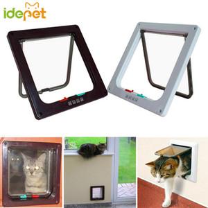 Pet Cat Dog Gate Lockable Безопасного лоскут двери Pet продукт игрушка Cat Устойчивые Двери Удобной Интеллектуальный Пассаж Дверь 40 P1