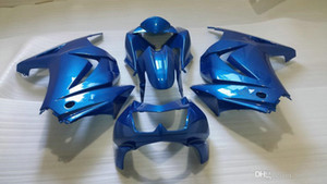 Kit de carénage de moulage par injection pour KAWASAKI Ninja 250R 08 09 10 11 12 12 ZX250R EX250 2008 2012 2012 Blue Carénages de moto set + 7GIFTS
