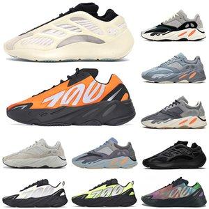 adidas yeezy 700 boost MNVN Wave Runner Tênis de corrida Kanye West Azael reflexivo azul carbono PHOSPHOR mulheres mens designer tênis esportivos