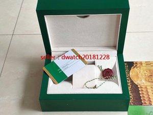 Оригинальные правильные соответствующие бумаги карта безопасности подарочная сумка топ зеленый деревянный ящик для часов все серии 116233 коробки буклеты часы бесплатно 7750 Print4130