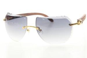 Factory Decoration Gold Wholesale Glasses Design Rimless Hot High 8200763 Quality Sunglasses Frame Women Sunglasses Men 2020 C Xqppu