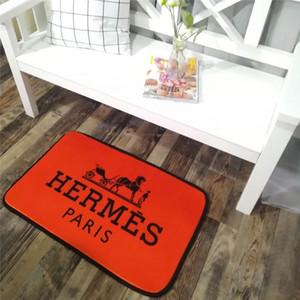 Marca Inicio Mat cubierta suave de la manera Habitación Mats Imprimir Carta de alfombras de lujo antideslizante baño Mats 50 * 80cm