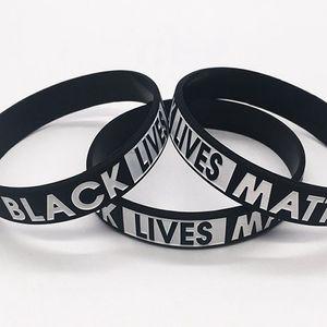 Schwarz Lives Matter-Armband-Silikon-Kautschuk-Armband Handgelenk-Band-Sport-Armband für Männer Frauen Geschenk LJJK2184