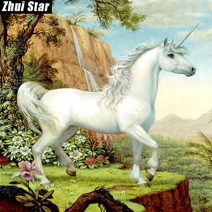 """La plaza del diamante nueva completa 5D DIY diamante Pintura """"caballo"""" bordado de punto de cruz del Rhinestone Mosaico Pintura Decoración de regalos"""