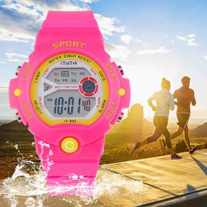 Bambini Sport Watch Multi Function ragazzi intelligenti orologi sportivi impermeabili luminoso di moda per i ragazzi regali impermeabili per bambini