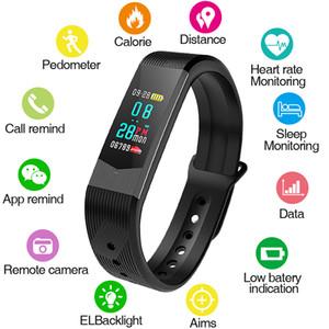 3 renkler spor kadınlar smart watch erkekler bluetooth kalp hızı kan basıncı ücretsiz kutu hediye ile android ios için led spor izle aşk