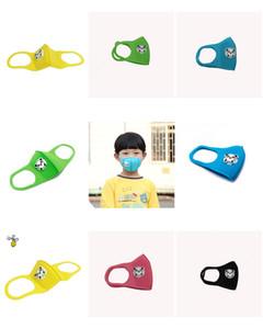 Masque bouche Enfants enfants Thicken éponge visage bouche Masque anti-poussière pollution PM2.5 Appareil respiratoire avec Breath Shape Panda