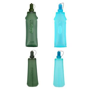Garrafa Outdoor Sports Soft Water plástico macio saco de água dobrável Cross-Country Running água Sports Bag