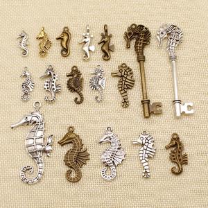30 шт Металлические Подвески или Подвески Браслет Существа моря Seahorse Гиппокамп HJ067