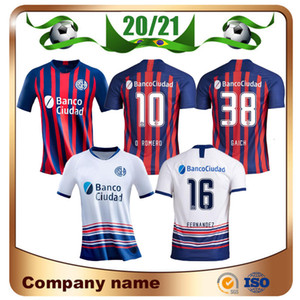 Новый 2020 Сан-Лоренцо футбол Джерси 20/21 Сан-Лоренцо Главная #16 BELLUSCH футбол рубашка #9 BLANDI CERUTTI индивидуальные футбольная форма