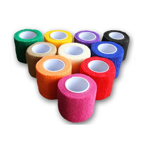 Cheap Grip Cover Wrap Disposable Tattoo Cohesive Elastic Bandage Tattoo Handle Wrap Finger Wrist Protection Tattoo Accesories 25mm