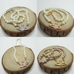 Les femmes strass satellite collier pendentif multicolore perle chaîne satellite Collier Haute Joaillerie Qualité Party Cadeau