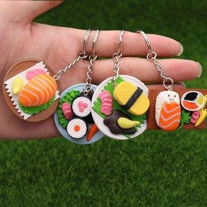 Японский суши брелок сумка автомобиль брелок лосось еда милый кулон рисунок брелок подарок на День рождения 4 цвета микс 24 шт. / лот Оптовая