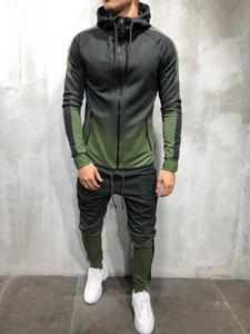 Erkek Eşofmanlar Zogaa Spor Iki Parçalı Set Erkek Rahat Kapüşonlu Spor Giyim Eşofman Eğitim Ter Suit Erkekler Track M-3XL