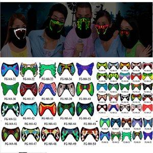 Halloween LED Music Light Airsoft Mask Luminous Glowing Flash Cosplay Máscaras Mascaras Carnaval Party Supplies Christams Decor XD20366