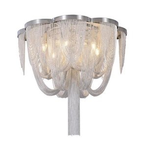 Pendant ceiling lamp Aluminum Chain Tassel decorative hanging lamps Fixture for Living room Bedroom Dining Room