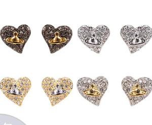 Westeuropa und die West Queen Love Hearts und Erde Sterne Zwei-Farben-Ohrringe Bolzen-Ohrringe