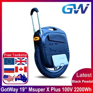 Lo nuevo Gotway Msuper X plus 100 V 2200wh 19 pulgadas monociclo eléctrico auto-equilibrio scooter 2000 W motor de alta potencia MOS 21700 batería