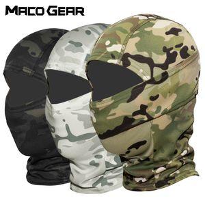 Multicam CP camuflagem Tactical Balaclava Máscara Facial Wargame Ciclismo Exército Hunting Bike Helmet Liner Cap Hat