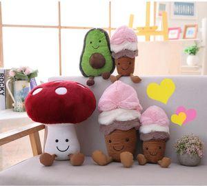 neue 2019 Kreative Puppe Plüschtiere Avocado Plüsch benutzerdefinierte Eis Pilz Puppe Maschine Puppe
