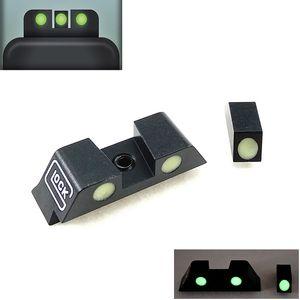 Tactical Hunting Pistol Handgun Glow in the Dark Night Sights Vista anteriore e posteriore Set per G17, G19, G22, G23 Accessori tattici