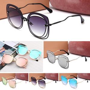 MIUMIU Erkekler kadınlar Erkek sürüş için Marka tasarım Polarize Pilot gözlükleri Reflektif Kaplama Gözlük óculos gafas de sol kutusu ile ve de ca gözlük