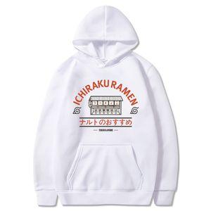 Japanese Anime Naruto Ichiraku Ramen Sweatshirt Men Women Harajuku Hip Hop Tracksuit Warm Fleece Loose Pullover Hoodies Moletom Y200519