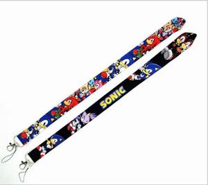 Livre Epacket Nova dos desenhos animados do Sonic Hedgehog chaveiro Telefone Correia de pescoço Chaves Câmera ID Card Lanyard