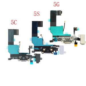 10 Pcs Carregador De Carregamento Porta USB Dock Connector Flex Cable Para iPhone 5 5S 5C Fone De Ouvido Jack De Áudio Fita Flex