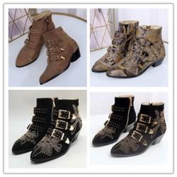 Fashion Women Botas Mujer Leather Tactical Ankle Boots For Female Western Vintage Rivets Studded Motorcycle Punk Shoes Woman l011