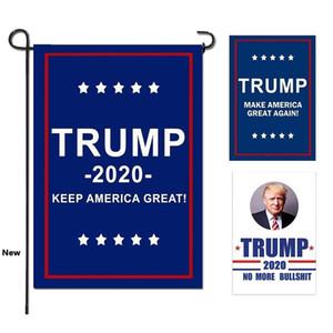 Banderas Trump Jardín Presidente Elección General Banner 2020 Bandera Trump tela de poliéster plástico asta de bandera del banderín bandera banderas 30 * 45cm MMA1715