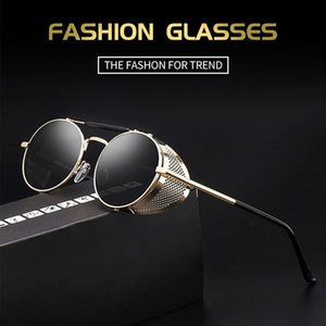 Retro Round Metal Sunglasses Steampunk Men Women Designer Glasses Oculos De Sol Shades UV Protection