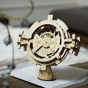 Çocuklar Yetişkin için Yaratıcı DIY Perpetual Calendar Ahşap Model Yapı Setleri Montaj Oyuncak Hediye