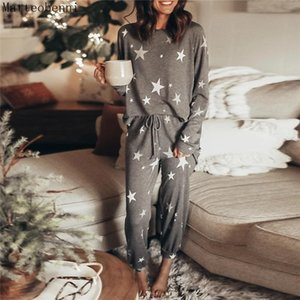 Pink Print Loose Lounge Wear Casual 2 piece sets womens outfits Autumn Long sleeve Tops and Jogger Suit Ladies 2pcs Tracksuits T200707