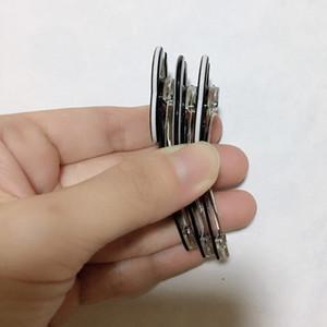 6X2 CM preto e branco acrílico C grampo de cabelo um clipe de palavra para a coleção de Senhoras de design de Luxo cabelo ornamento do partido presente 6 pçs / lote