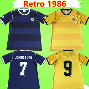 Coupe du monde 1986 maillots de foot jaune jaune bleu Retro 82 classic Vintage antique Collection de maillots de foot STACHAN SOUNESS McSTAY