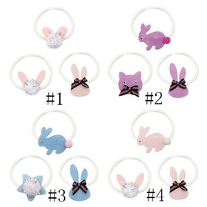 Easter Tiara Children Cute Rabbit Shape Hair Band Baby Super Soft Seamless Headband Set 4 Styles EEA1146