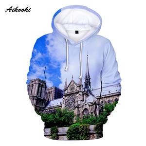 Aikooki célèbre Notre Dame de Paris Hoodies hommes / femmes à capuche à capuche pour hommes pour toujours Notre Dame de Paris Polluvers Manteaux