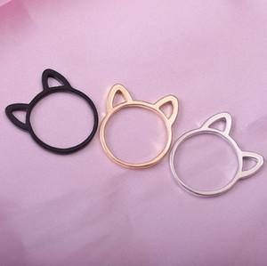 Ear Band gioielli del gatto anelli anelli di forma dell'orecchio semplice fuori del gatto cava per le donne carina modo caldo