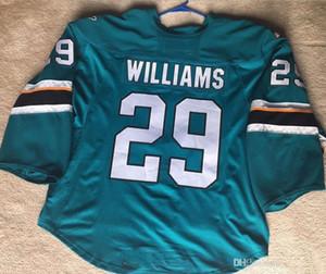 размер XXS-6XL San Jose Barracuda 26 Stephon Williams Teal Goalie San Jose Sharks Hockey Jersey вышивка сшитая настроить любое количество и n