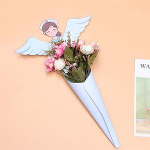 10PCS 절묘한 꽃 스토리지 박스 꽃다발 선물 케이스 꽃 스토리지 컨테이너 크리스마스 선물 상자 간호사의 날 사은