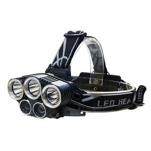 USB LED faro azul luz blanca luz de pesca CREE XML T6 XPE Q5 5 led linterna linterna cabeza linterna cabeza lámpara recargable