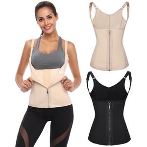 Femmes bustiers Zipper Fly Push Up Corsets taille Tummy taille Contrôle Entraîneur cinchers Body Shaper Shapewear Cny1524