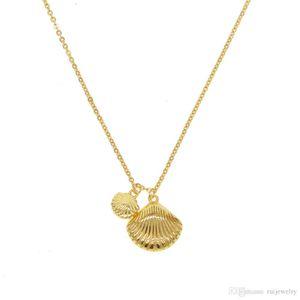 NEWEST Vintage Bohemia Shell Necklace Gold Color Ethnic Women Shells Jewelry Pendant Beach Boho Necklace Female Fine brinco 2019