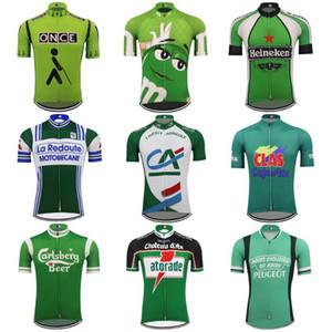 레트로 남자 사이클링 저지 클래식 녹색 여러 스타일 자전거 의류 통기성 자전거는 MTB 저지 Ciclismo 맞춤 옷