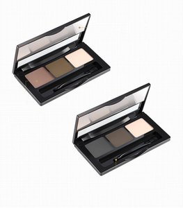 Three-dimensional soft trichromatic eyebrow powder high gloss water sweat resistance eyebrow dye cream easy to wear with a brush YDL028
