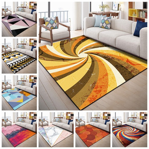 European Geometric Printed Area Rugs Large Size Carpets For Living Room Bedroom Decor Rug Anti Slip Floor Mats Bedside Tapete Y200416